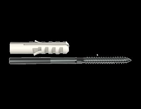 ТН МВС, крепление хомута с дюбелем 100/140/180 мм