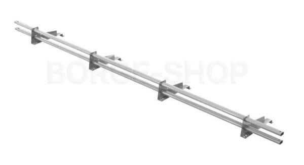 Снегозадержатель трубчатый плоскоовальный BORGE 25х45 мм, L-3 м, 4 опоры для металлочерепицы с шагом обрешётки 350 мм