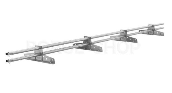 Снегозадержатель трубчатый плоскоовальный BORGE 25х45 мм, L-3 м, 4 опоры для металлочерепицы