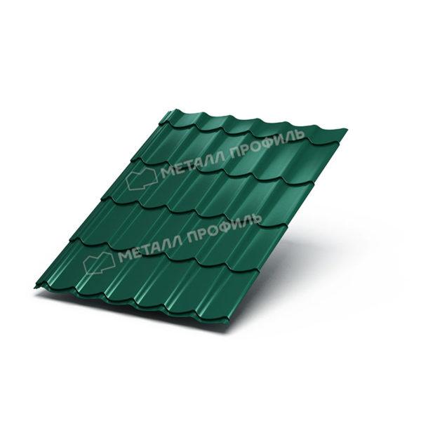 Металлочерепица Ламонтерра Polyester RAL6005